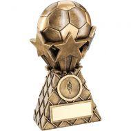 Bronze/Gold Football Stars Net Burst Trophy - 7in