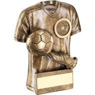 Bronze/Gold Football Trophy Shirt Boot/Ball Trophy - 6in
