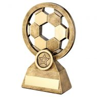Bronze Gold Football With Holes Trophy 5.75in : New 2019
