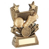 Bronze Gold Shooting Star Series Football Trophy Award 4in : New 2020