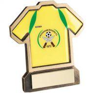 Bronze/Gold Resin Football Shirt Trophy (shirt D) 5in : New 2018