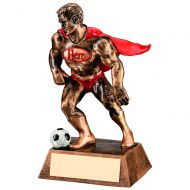 Bronze/Gold/Red Resin Football Hero Trophy 6.25in