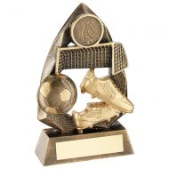 Bronze/Gold Football Diamond Collection Trophy Award - 5in : New 2018