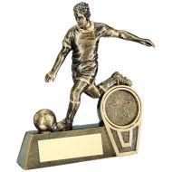 Bronze/Gold Mini Male Football Figure Trophy 5.5in
