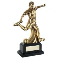 Antiqueique Gold Premium Male Football Figure On Black Base Trophy 14in : New 2020