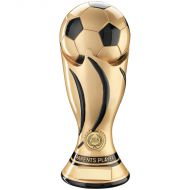 Gold/Black Football Swirl Column Trophy Award - Parents Player - 11in : New 2018