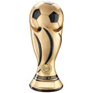 Gold/Black Football Swirl Column Trophy Award - Players Player - 11in : New 2018