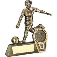 Bronze/Gold Mini Female - Ladies Football Figure Trophy 5.5in