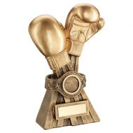 Gold Bronze Boxing Gloves with Belt Trophy Award 7in : New 2020