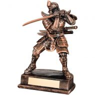 Bronze/Gold Resin Samurai Figure 8in