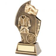 Bronze/Gold Martial Arts Curved Plaque Trophy - 6in