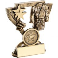 Bronze/Gold Martial Arts Mini Cup Trophy - 3.75in
