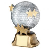 Silver Bronze Gold Glitter Ball with Stars Trophy Award 6in : New 2020