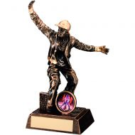 Bronze/Gold Resin Male Street Dance Figure Trophy 7.25in