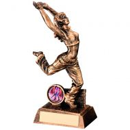 Bronze/Gold Resin Female - Ladies Street Dance Figure Trophy 7.5in