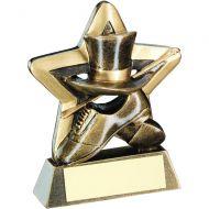 Bronze/Gold Top Hat/Gloves/Cane Mini Star Trophy 3.75in