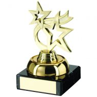 Gold Plastic Marble Dancing Star Trophy 3.75in