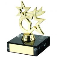 Gold Plastic Marble Dancing Star Trophy 4.5in