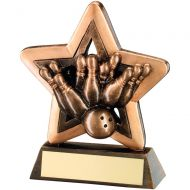 Bronze/Gold Ten Pin Mini Star Trophy 4.25in