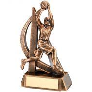 Bronze/Gold Female - Ladies Basketball Geo Figure Trophy 7in