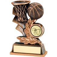 Bronze/Gold Basketball Leaf Plaque Trophy 4in