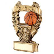 Bronze Gold Orange Basketball 3 Star Wreath Award Trophy 5in : New 2019
