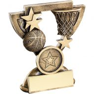 Bronze/Gold Basketball Mini Cup Trophy - 3.75in