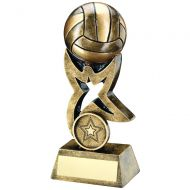Bronze/Gold Netball On Star Trophy Riser Trophy 5.5in