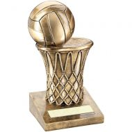 Bronze/Gold Netball Net Trophy - 5in