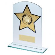 Jade Gold Glass Arched Rectangle With Netball Insert Trophy 7.25in : New 2019