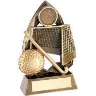 Bronze/Gold Hockey Diamond Collection Trophy Award - 5.75in : New 2018