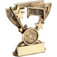 Bronze/Gold Hockey Mini Cup Trophy - 3.75in