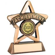 Bronze/Gold Resin Achievement Mini Star Trophy 3.75in