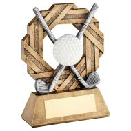 Bronze Pewter White Golf Octo Ribbon Series Trophy Award 7.5in : New 2020
