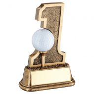 Bronze Gold Golf Hole In One Ball Holder Trophy Award 6in : New 2020