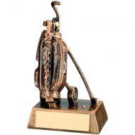 Bronze/Gold Resin Golf Bag Trophy 6.25in