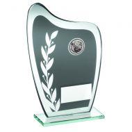 Grey/Silver Glass Plaque Golf Trophy 7.25in