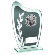 Grey/Silver Glass Plaque Golf Trophy 6.5in