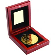 Rosewood Box Medal Golf Trophy Gold 3.75in