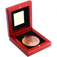 Rosewood Box Medal Golf Trophy Bronze 3.75in