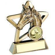 Bronze/Gold Horse Mini Star Trophy 4.25in