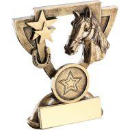 Bronze/Gold Horse Mini Cup Trophy - 4.25in
