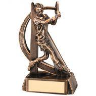 Bronze/Gold Male Tennis Geo Figure Trophy 7.5in
