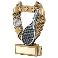 Bronze Pewter Gold Tennis 3 Star Wreath Award Trophy 7.5in : New 2019