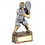 Bronze Pewter Tennis Beasts Figure Trophy 6.75in : New 2019
