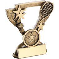 Bronze/Gold Tennis Mini Cup Trophy - 3.75in