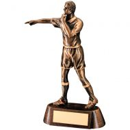 Bronze/Gold Resin Referee Figure Trophy Award - 6.75in : New 2018