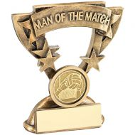 Bronze/Gold Man Of The Match Mini Cup With Gaelic Football Insert Trophy Award - 3.75in : New 2018