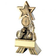 Bronze/Gold Rifle Clay Shooting Star Trophy 5in