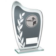 Grey/Silver Glass Plaque Shooting Trophy 6.5in